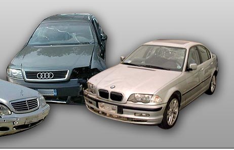 damaged cars auto incidentate